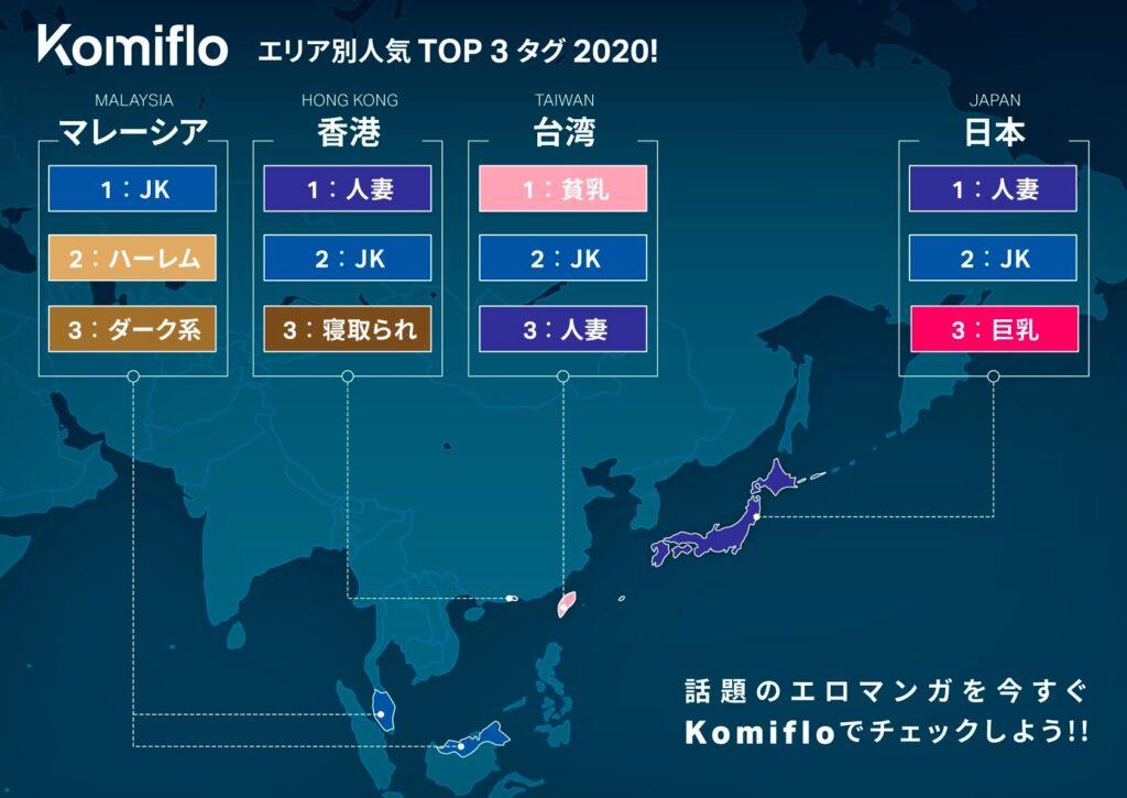 Komifloが都道府県別エロマンガ人気ジャンルを公開!